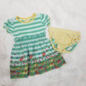 Matilda Jane Stripe Floral Knit Dress With Bloomer